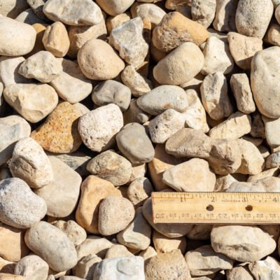 1-1/2 inch River Rocks and Stones with Ruler