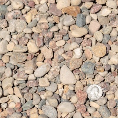 3/4 inch American Heritage Landscape Rocks with Quarter