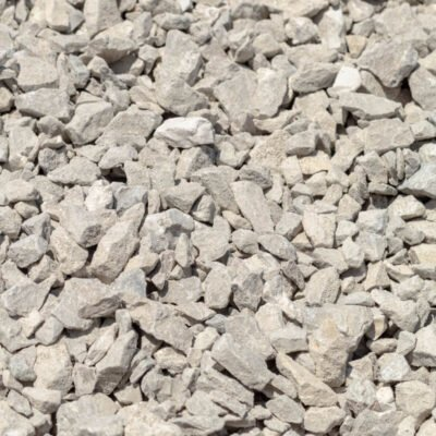 Grey limestone gravel pieces that take up the whole frame of the photograph