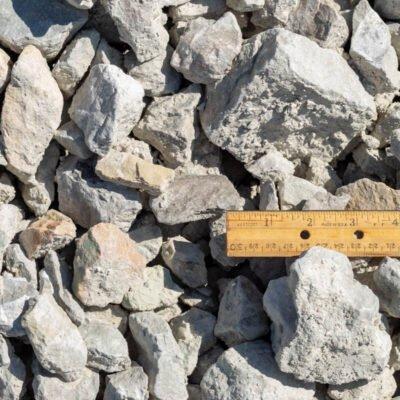 3 inch Limestone Rocks with Ruler