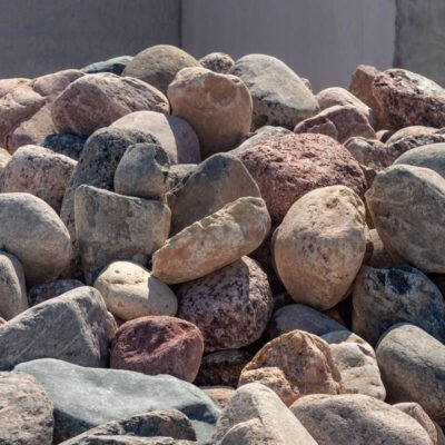 4 inch to 8 inch Granite Boulders Pile