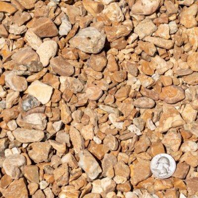 5/8 inch Meramec Landscape Stones with Quarter