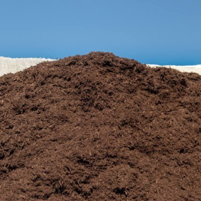 Dyed Brown Mulch Pile