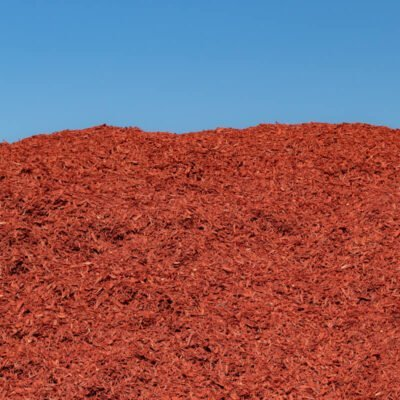 Dyed Red Mulch Pile