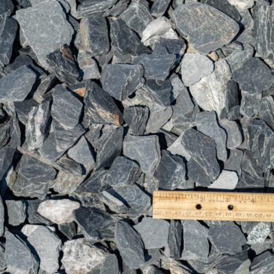 #5 Grey Slate Stone Pile with Ruler