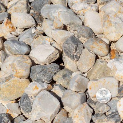 London Mist Stones with Quarter Comparison