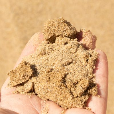 Mason Sand Held in Hand