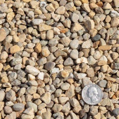 Pea Gravel with Quarter