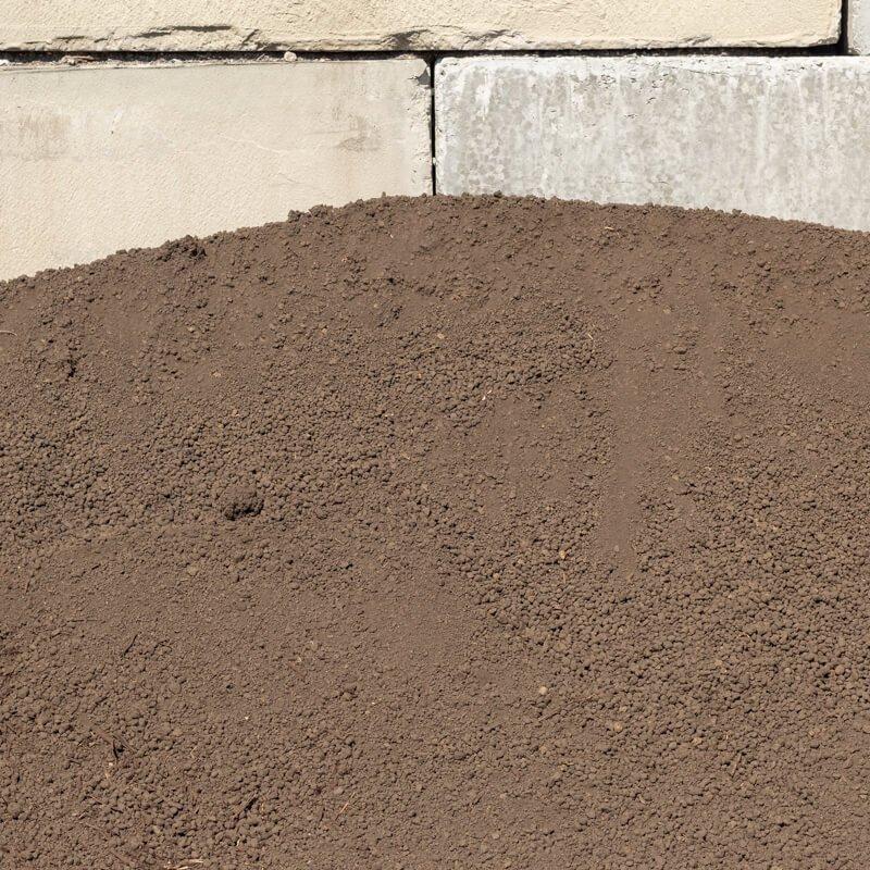 Pulverized Topsoil Pile
