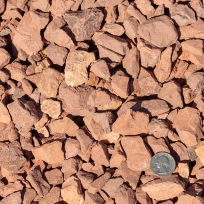 Western Sunset Stones Pile with Quarter