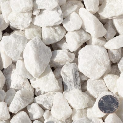 White Marble Stones with Quarter